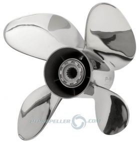 PowerTech! TRO4 Stainless Propeller Mercury